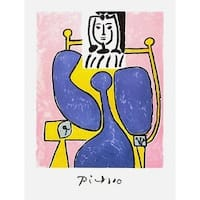 Woman and Blue Rose, Limited Edition, Lithograph, Pablo Picasso