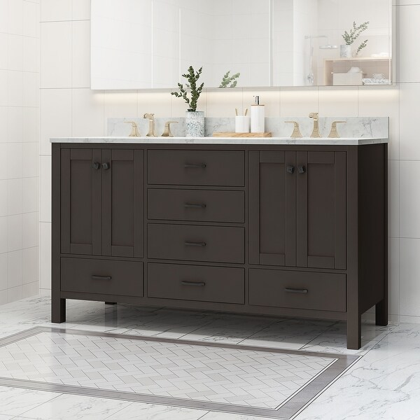 Laranne Wood Double Sink Bathroom Vanity by Christopher Knight Home. Opens flyout.