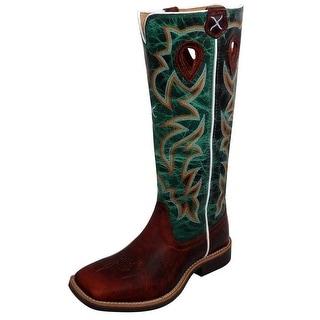 Twisted X Western Boots Girls Kids Buckaroo Cognac Turquoise YBK0005