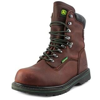 """John Deere 8"""" NS Waterproof Men W Round Toe Leather Brown Hiking Boot"""