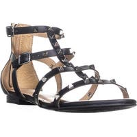 ESPRIT Kiera Flat Studded Sandals, Black