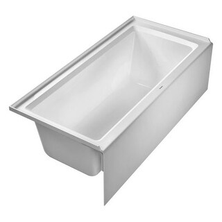 "Duravit 700408000000090 Architec 66"" Acrylic Soaking Bathtub for Alcove Installations with Left Drain"