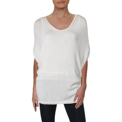 Nic + Zoe Womens Lived In Pullover Sweater Linen Pullover