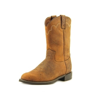 Justin Boots Stampede Roper Men 2E Round Toe Leather  Western Boot