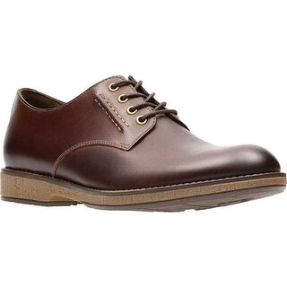 Clarks Men's Hinman Plain Oxford Mahogany Leather