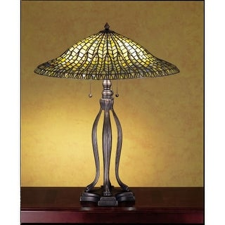 Meyda Tiffany 29385 Stained Glass / Tiffany Table Lamp From The Lotus Leaf  Collection