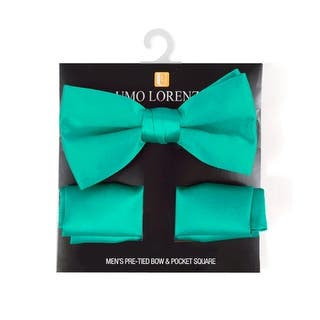 Boy's Solid Pre Tied Bow Tie and Hanky Set - One size|https://ak1.ostkcdn.com/images/products/is/images/direct/4aeeefe69e2b4feda845abb38ab9e9eaabe2f861/Boy%27s-Solid-Pre-Tied-Bow-Tie-and-Hanky-Set.jpg?impolicy=medium