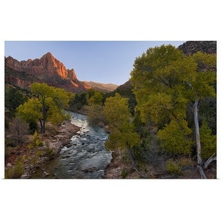 """""""The Watchman and Fall Color"""" Poster Print"""