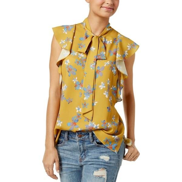 8494249540531 Shop Rachel Rachel Roy Womens Blouse Floral Print Flutter Sleeves ...