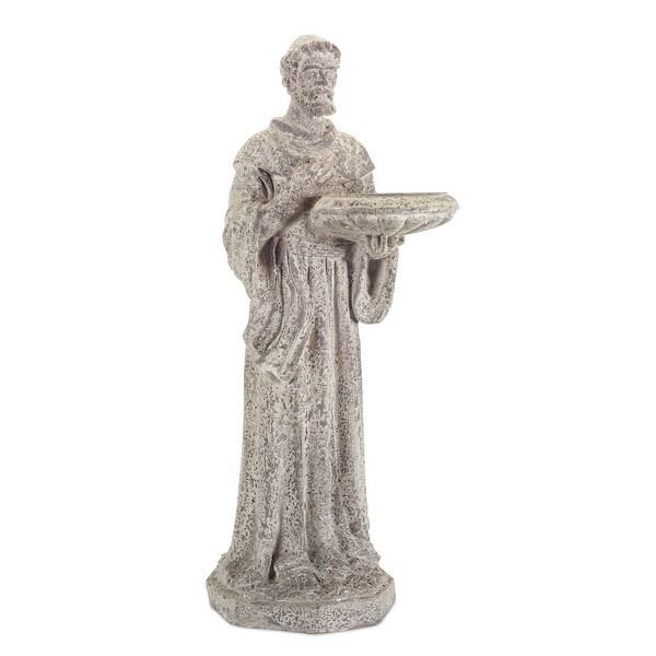"""Artistically Crafted Saint Bird-feeder Figurine 31"""" - N/A"""