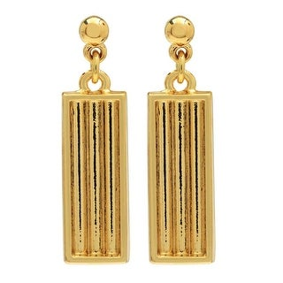 Elegant Elements, Earring Post with 3-Strand Channeled Dangle For Delica Seed Beads 29.5x7mm, 1 Set, Gold Plated