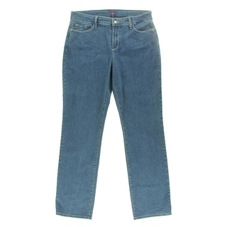 NYDJ Womens Classic Rise Maryland Wash Straight Leg Jeans