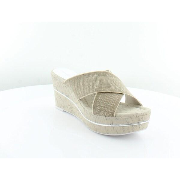 Donald J Pliner Dani Women's Sandals & Flip Flops Natural - 9.5
