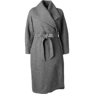 Mynt 1792 Womens Plus Maxi Coat Wool-Blend Wrap - 1x