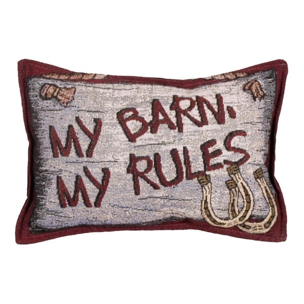 Shop Set Of 40 Country Western Barn Rules Decorative Tapestry Throw Amazing Western Decorative Pillows