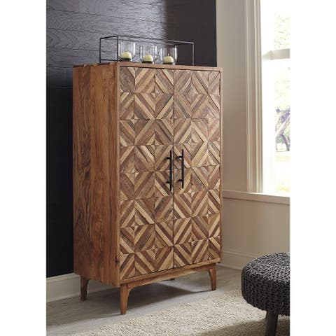 Gabinwell Two-tone Brown Accent Cabinet