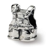Sterling Silver Reflections Kids Overalls Bead (4mm Diameter Hole)