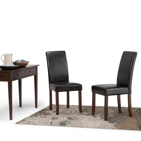 "WYNDENHALL Normandy Contemporary Parson Dining Chair (Set of 2) - 17.5""w x 20.1""d x 40.4""h"