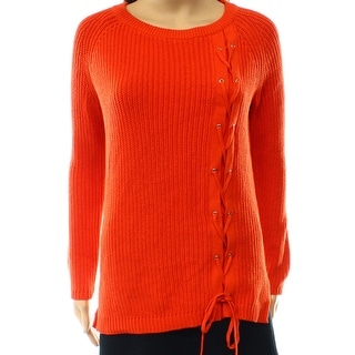 Grace Elements NEW Red Mandarin Women's Size Small S Crewneck Sweater
