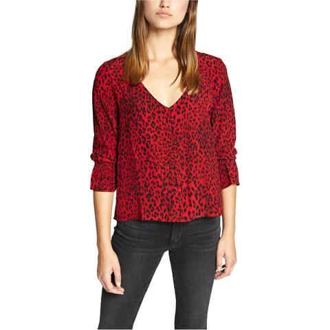 Sanctuary Clothing Womens Smocked Button Down Blouse