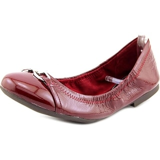 Lauren Ralph Lauren Betsy Women Round Toe Patent Leather Burgundy Flats