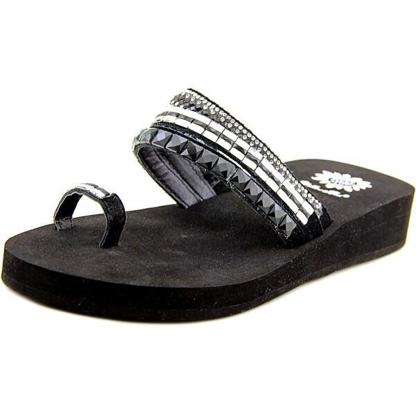Yellow Box Lesa Women Black Clear Sandals
