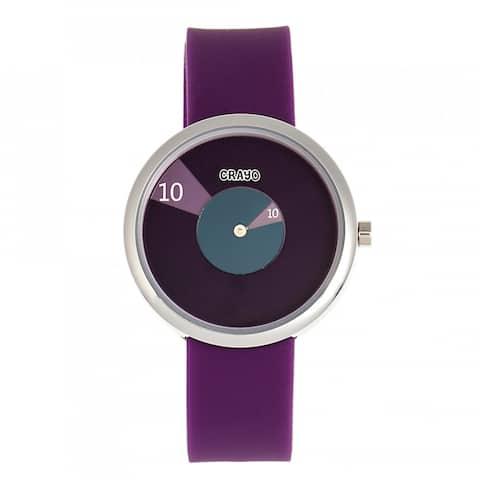 Crayo Pinwheel Silicone Strap Watch - Purple
