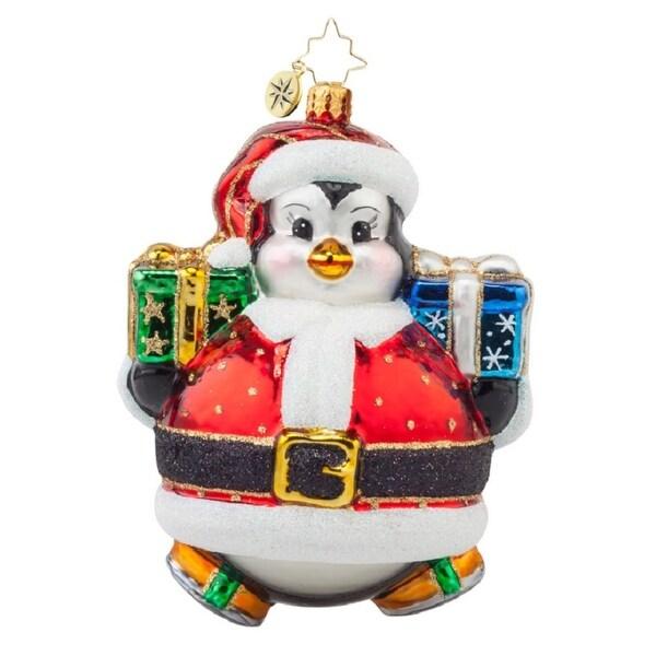 Christopher Radko Glass Poly Penny Skater Penguin Christmas Ornament #1017893