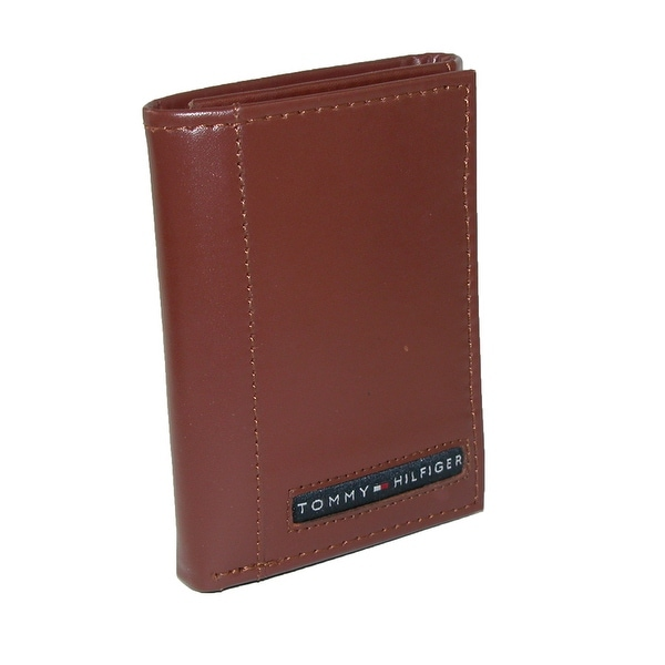 Tommy Hilfiger Men's Leather Cambridge Trifold Wallet - One size