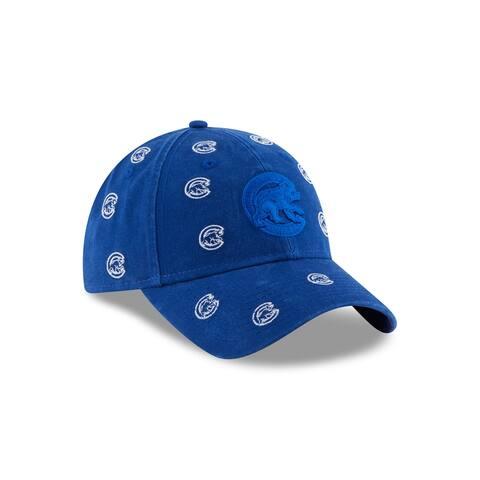 Chicago Cubs Logo Scatter 9TWENTY Women's Adjustable Hat