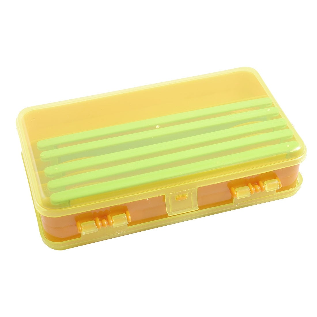 Unique Bargains Unique Bargains Double Sides Fishing Tackle Box Hook Lure Case with 5 Line Winders
