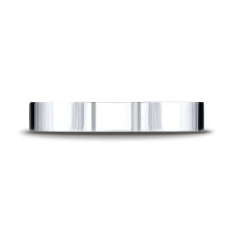 Platinum 4mm Flat Comfort-fit Ring