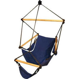 Hammaka Comfortable/Leisure Cradle Chair w/ Wood Dowels Indoor/Outdoor - Blue