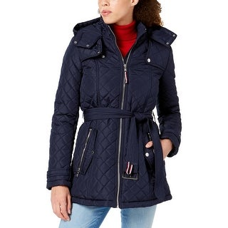 Tommy Hilfiger Womens Car Coat Quilted Winter