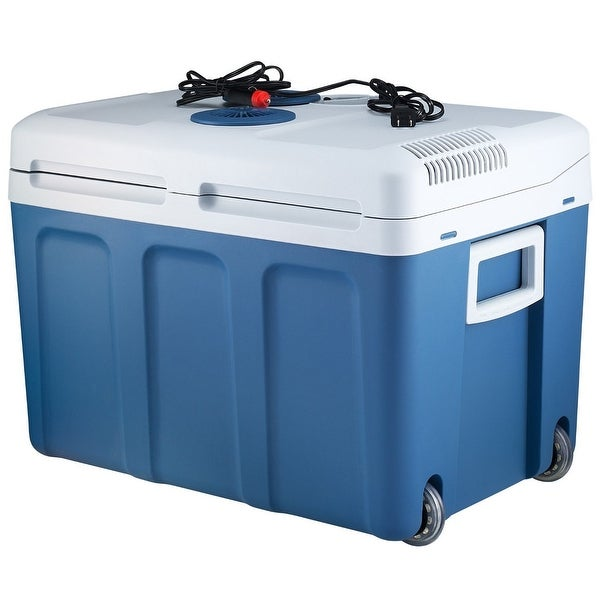 Plug In Cooler >> Shop Knox 48 Quart Electric Cooler Warmer With Built In Car And Home