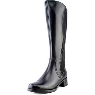 Blondo Lyzon Women Round Toe Leather Black Knee High Boot