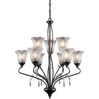 Landmark Lighting 8079 Crystal Nine Light Chandelier from the Nouveau Collection