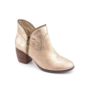 Chinese Laundry Strawberry Field Women Round Toe Suede Gold Ankle Boot