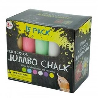 Bulk Buys GR158-24 Multi Color Jumbo Chalk Set - 24 Piece