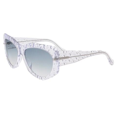 Balenciaga BA0034 26B Clear Bubble Rectangle Sunglasses