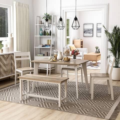 Furniture of America Sabina Modern 5-piece Dining Set With Bench