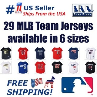 Pets First MLB Mesh Jersey for Dogs and Cats - Licensed.