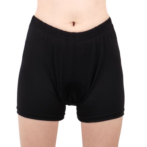 REALTOO Authorized Ladies Polyester Fiber Cycling Shorts Black S/XS (US 0)