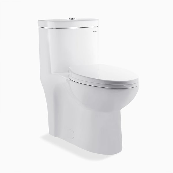 Swiss Madison SM-1T205 Sublime 0.8-1.28 GPF One-Piece Elongated Dual Flush Toilet and Seat with Soft-Close and Quick Release