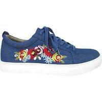 Kenneth Cole Reaction Women's Kam-Era Sneaker Blue Denim