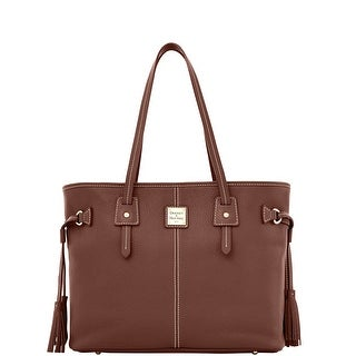Dooney & Bourke Pebble Grain Leather Davis Tote (Introduced by Dooney & Bourke at $268 in Sep 2016) - Chocolate