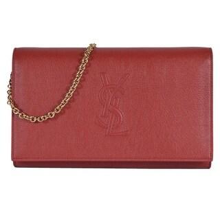 Saint Laurent YSL Red Leather Belle de Jour Crossbody Wallet Purse Bag