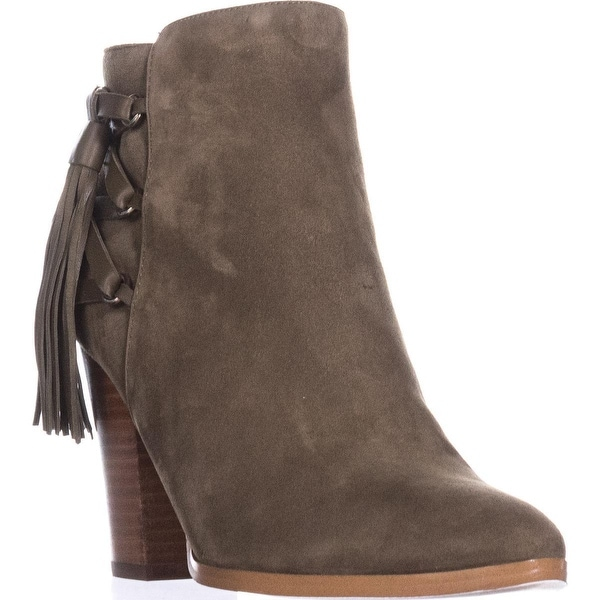 Marc Fisher Kava Tasseled Ankle Booties, Dark Green