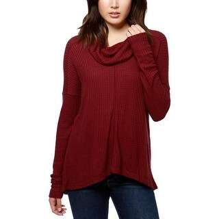 Lucky Brand Womens Thermal Top Cowl Neck Long Sleeves