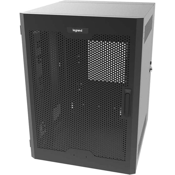 C2g - Legrand 18Ru Swing-Out Wall-Mount Cabinet With Perforated Door-Black-Taa